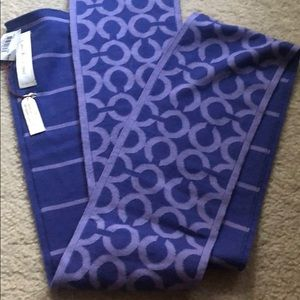 Gorgeous Coach purple scarf